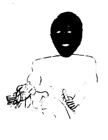 black masked man with knife